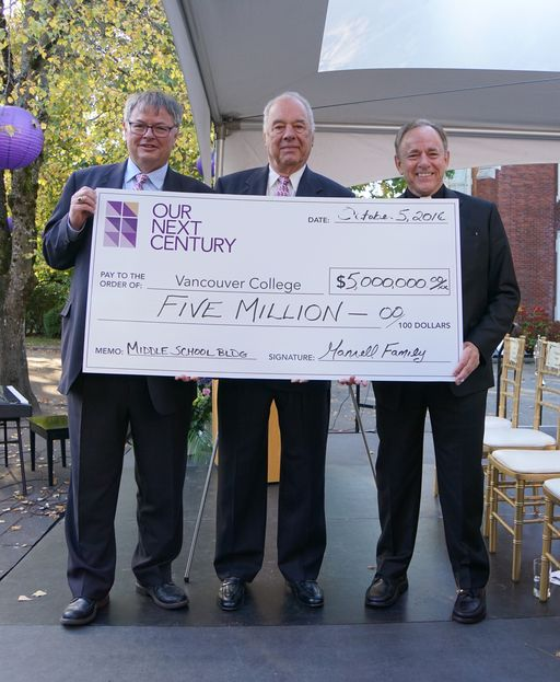 $5 Million Gift To Vancouver College Launches Our Next Century